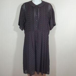 Vintage Liz Claiborne Star Button Through Dress 6
